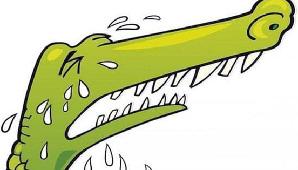 лить крокодильи слезы