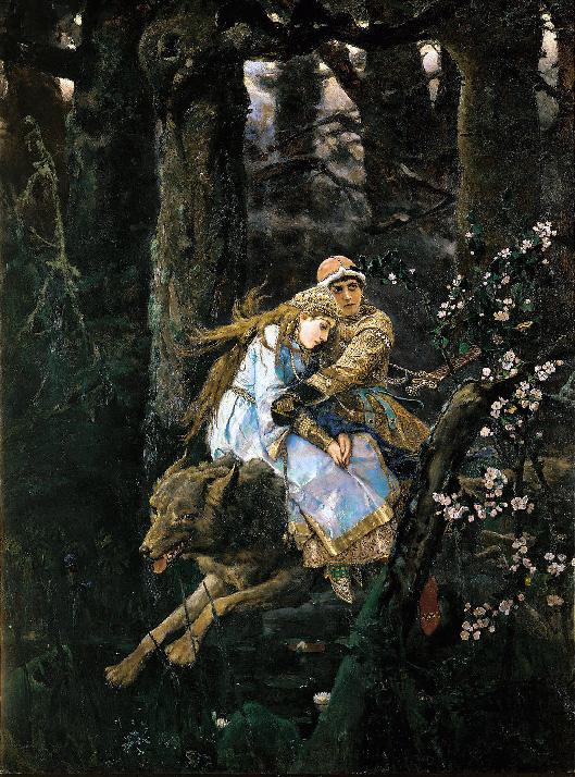 Васнецов. Иван Царевич на Сером волке. Сочинение по картине
